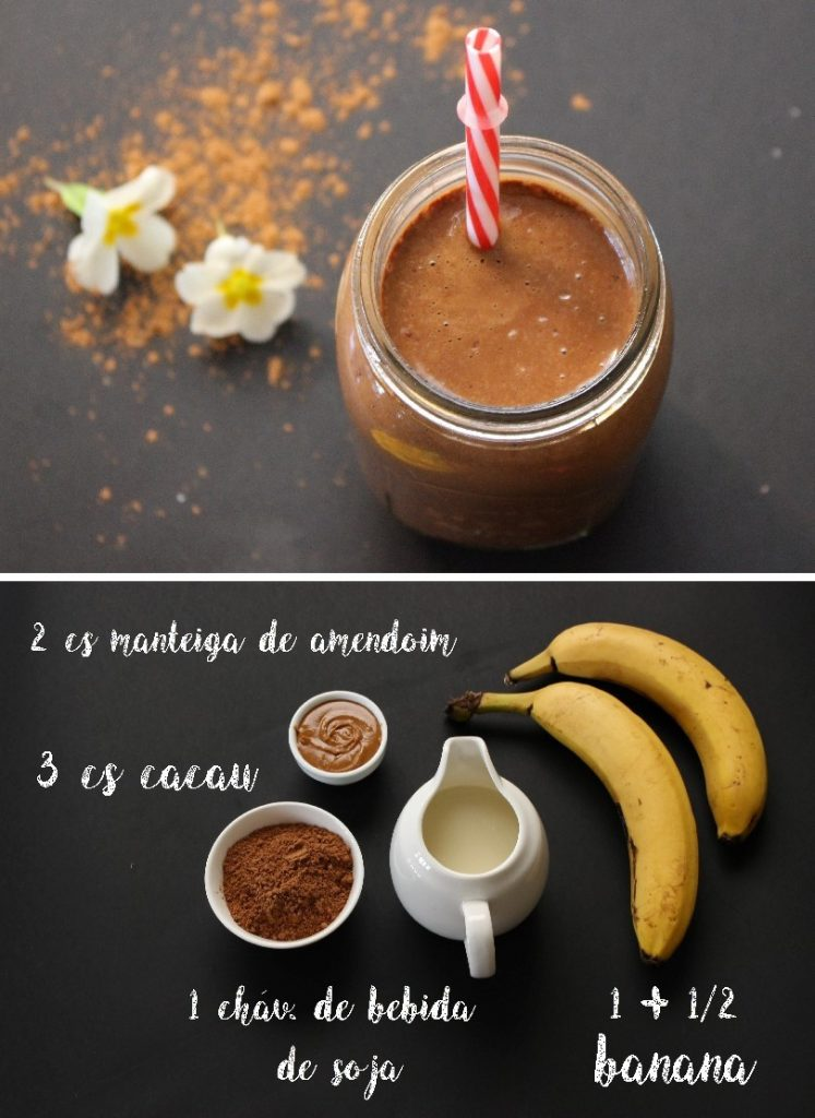 smoothie de chocolate e manteiga de amendoim