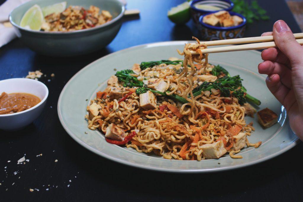 Thai Noodles com molho de amendoim