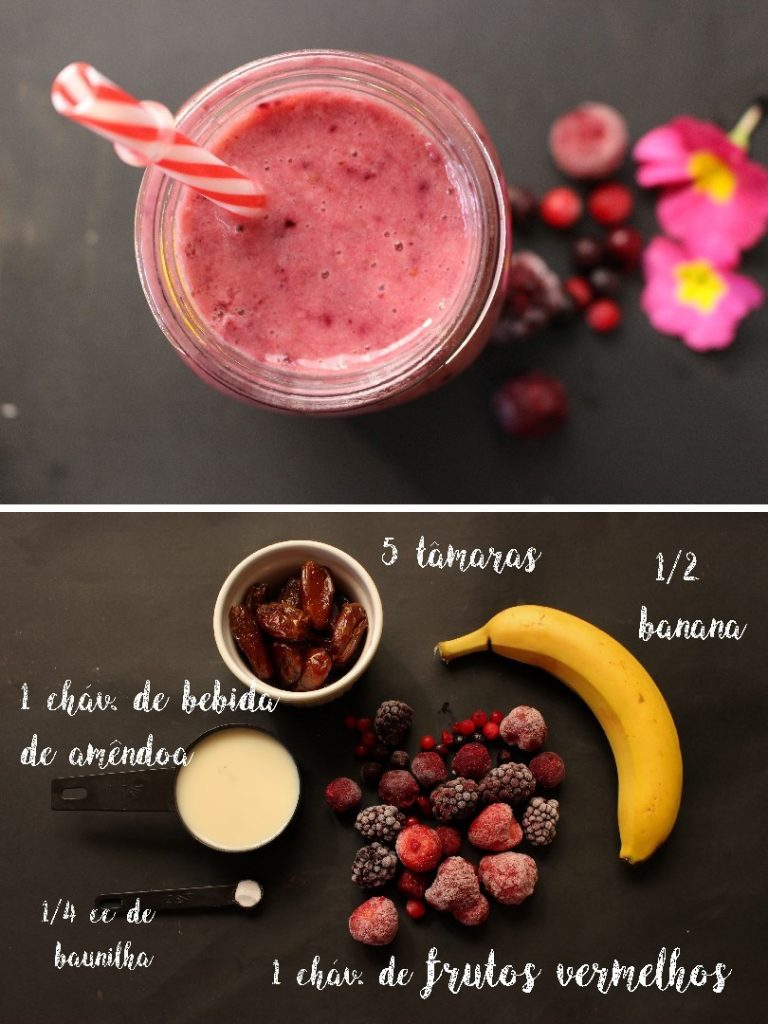 smoothie de frutos vermelhos