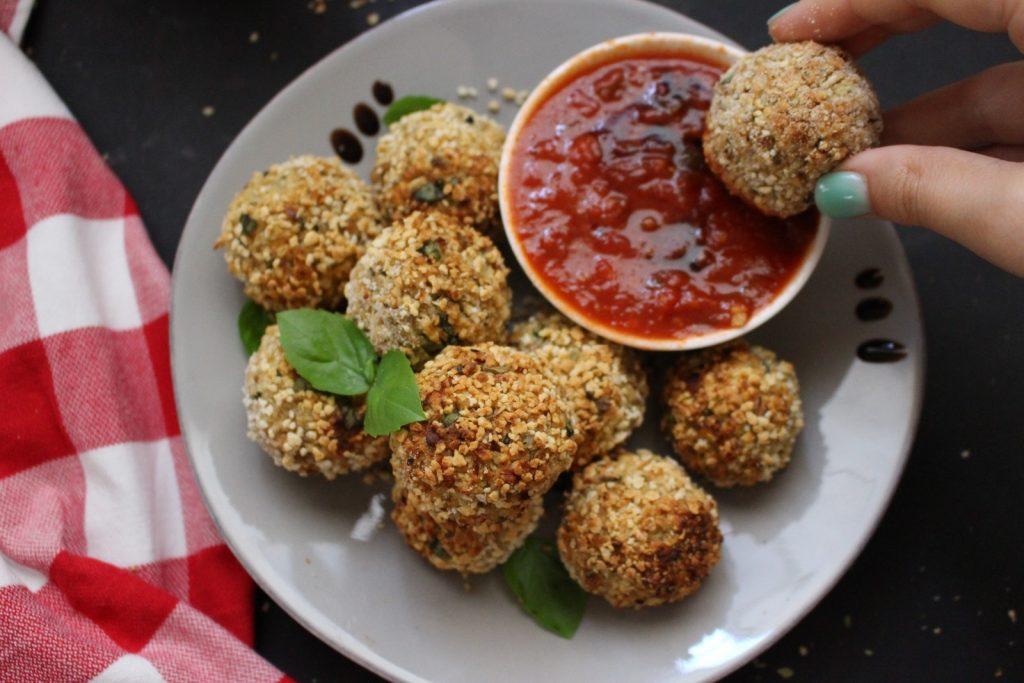 Arancini (ou bolinhas de arroz) de couve flor