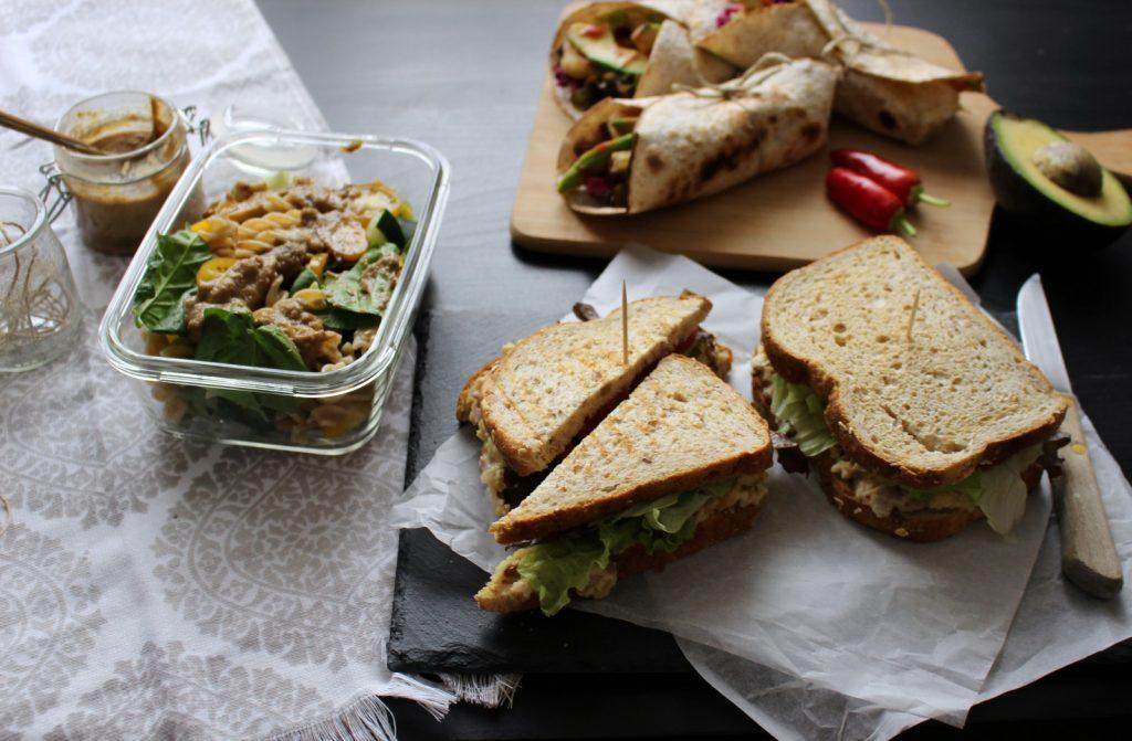 3 almoços para levar para a escola/ trabalho