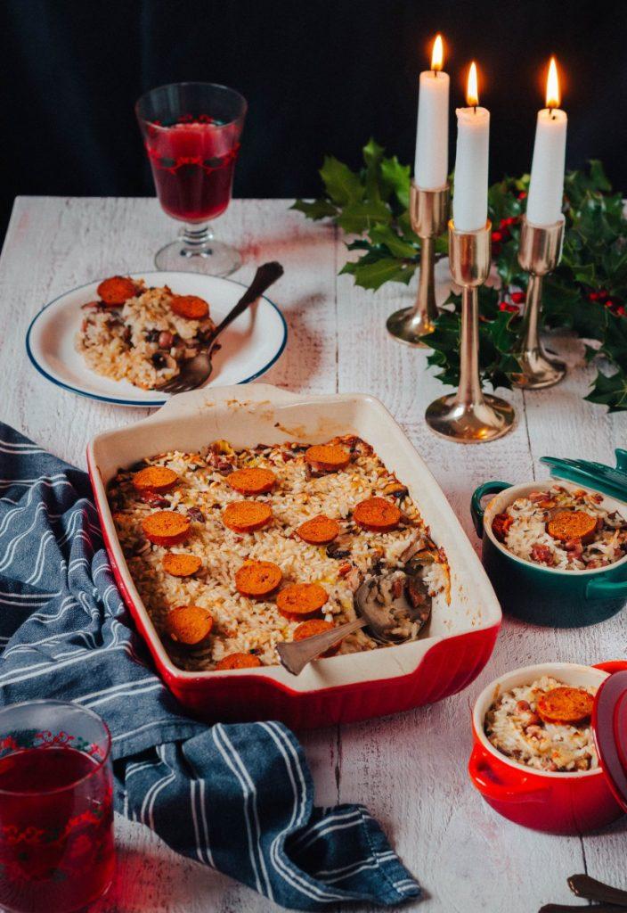 Arroz de cogumelos no forno (#5receitasparaestenatal)
