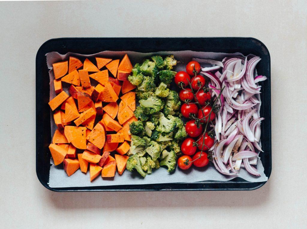 Legumes e Tofu no forno #diaadiaveg