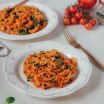 (one-pot) Massa de tomate e lentilhas
