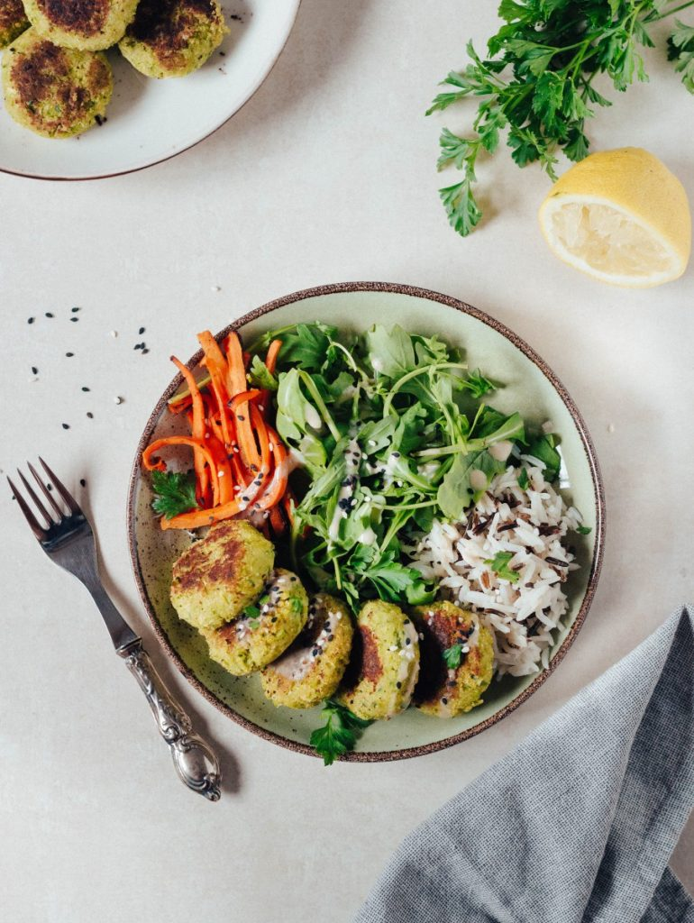 Meal Prep - Receita dos bolinhos de ervilha