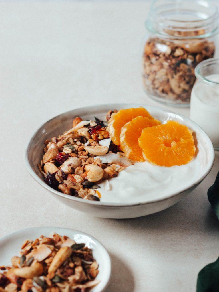 Granola de laranja - vegan