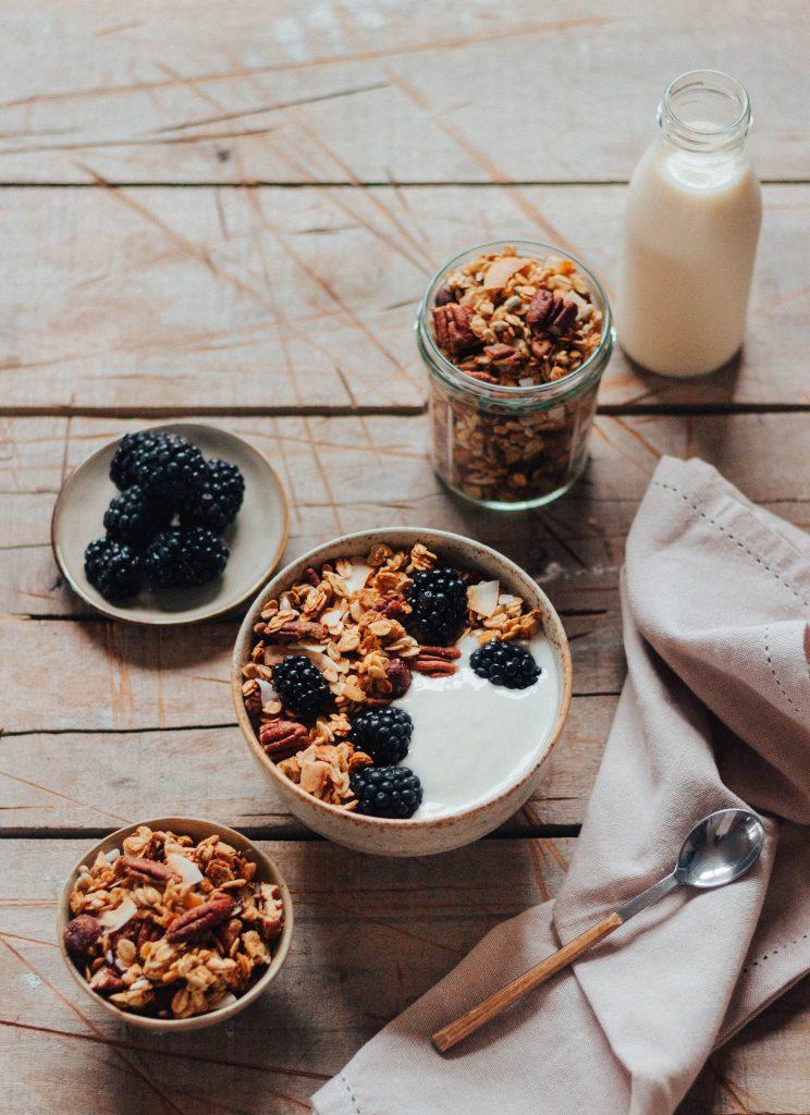 Granola com nozes pecan (vegan)